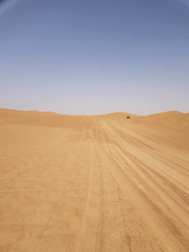 We zijn weer binnen 336km stenen snelle paden en 20km duinen. 2 keer vast gezeten maar zelf los gekomen. Hele beleving die duinenMorgen weer 350km met 30 km duinen die nog hoger zijn dan vandaag. Nu nog onderhoud auto heeft wat te verduren gehad vandaag. Een paar keer zijn we met alle wielen van de grond gegaan.